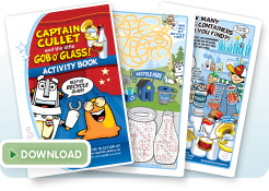 Glass recycling activity book