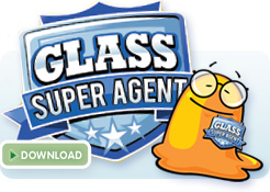 Glass recycling super agent badge