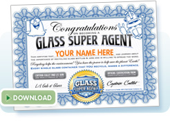 Glass recycling super agent certificate