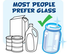 Most people prefer glass